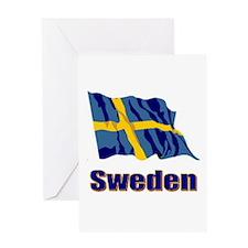 Swedish Flag Greeting Card