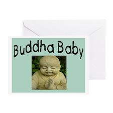 BUDDHA BABY 2 Greeting Card