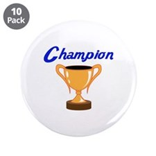 """TROPHY CUP CHAMPION 3.5"""" Button (10 pack)"""