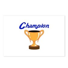 TROPHY CUP CHAMPION Postcards (Package of 8)