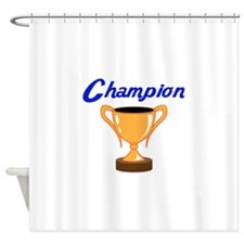 TROPHY CUP CHAMPION Shower Curtain