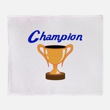 TROPHY CUP CHAMPION Throw Blanket
