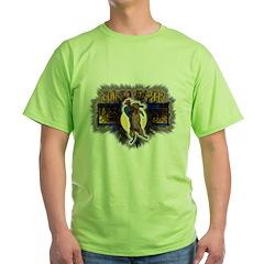 cougar mountain lion Puma hun Green T-Shirt
