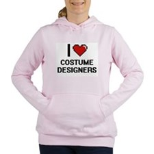 I love Costume Designers Women's Hooded Sweatshirt