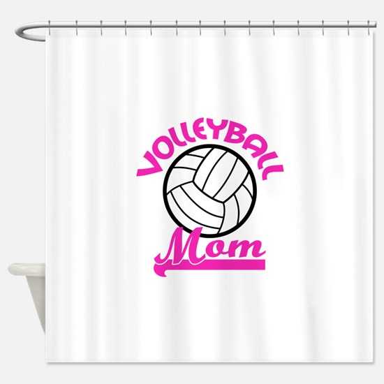 VOLLEYBALL MOM Shower Curtain
