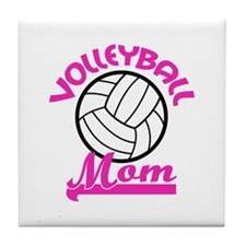 VOLLEYBALL MOM Tile Coaster