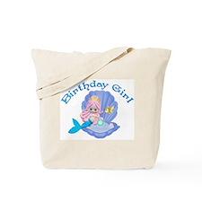 Lil Mermaid Birthday Girl Tote Bag