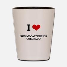 I love Steamboat Springs Colorado Shot Glass