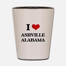 I love Ashville Alabama Shot Glass