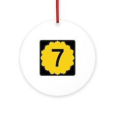 K-7, Kansas Ornament (Round)