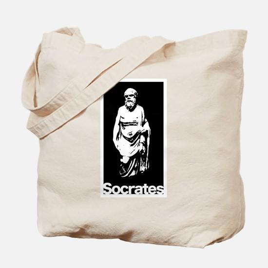 Socrates on Black Tote Bag