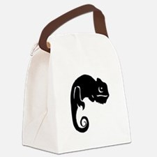 Chameleon Silhouette Canvas Lunch Bag