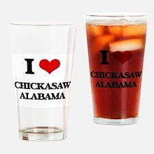 I love Chickasaw Alabama Drinking Glass