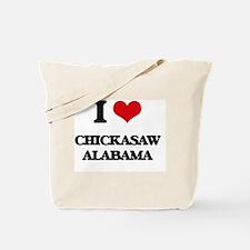 I love Chickasaw Alabama Tote Bag