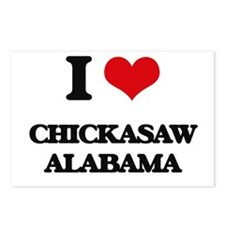 I love Chickasaw Alabama Postcards (Package of 8)