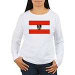 Austrian Flag (2) Women's Long Sleeve T-Shirt