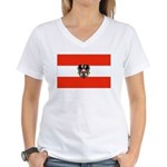Austrian Flag (2) Women's V-Neck T-Shirt
