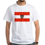 Austrian Flag (2) White T-Shirt