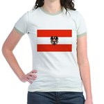 Austrian Flag (2) Jr. Ringer T-Shirt