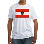 Austrian Flag (2) Fitted T-Shirt