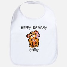 Happy Birthday Cathy (tiger) Bib