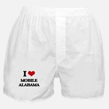 I love Mobile Alabama Boxer Shorts