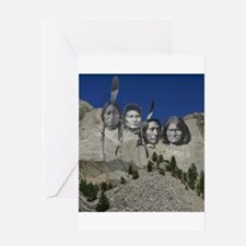 Native Mt. Rushmore Greeting Card