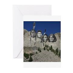 Native Mt. Rushmore Greeting Cards (Pk of 20)