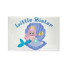 Lil Mermaid Little Sister Rectangle Magnet