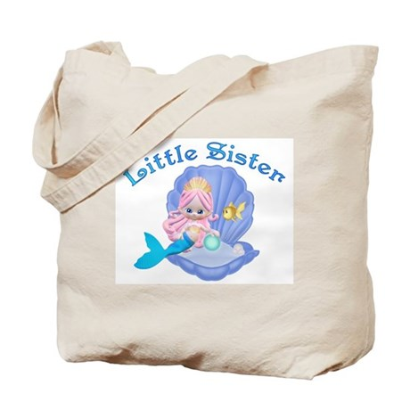 Lil Mermaid Little Sister Tote Bag