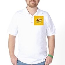 Happy easter on soft yelow background T-Shirt