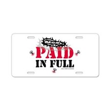Jesus Paid In Full Aluminum License Plate