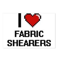 I love Fabric Shearers Postcards (Package of 8)