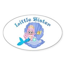 Lil Mermaid Little Sister Oval Decal