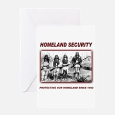 Homeland Security Native Pers Greeting Card