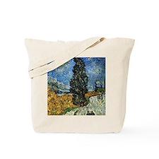 Van Gogh - Cypress against a Starry Sky Tote Bag