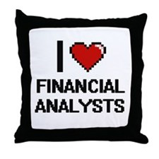 I love Financial Analysts Throw Pillow