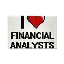 I love Financial Analysts Magnets