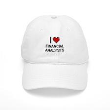 I love Financial Analysts Baseball Cap