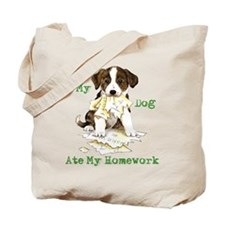Corgi Ate Homework Tote Bag