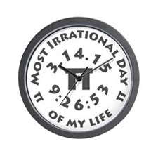 Ultimate Pi Day March 14, 2015 Wall Clock