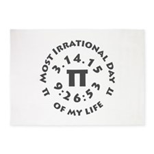 Ultimate Pi Day March 14, 2015 5'x7'Area Rug