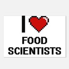 I love Food Scientists Postcards (Package of 8)