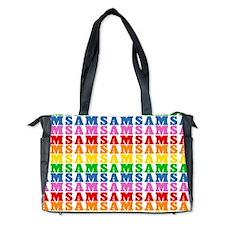 Rainbow Name Pattern Diaper Bag