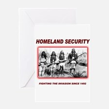 Homeland Security Native Greeting Card
