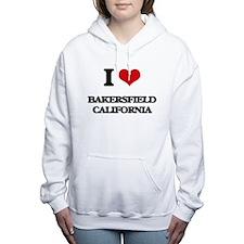 I love Bakersfield Calif Women's Hooded Sweatshirt