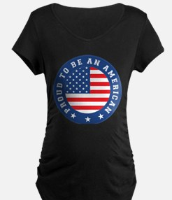 Proud To Be An American Maternity T-Shirt