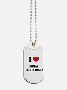 I love Brea California Dog Tags