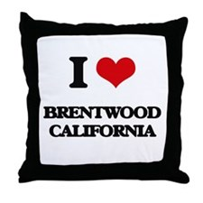 I love Brentwood California Throw Pillow