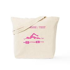 Pink Swimmer (Custom) Tote Bag